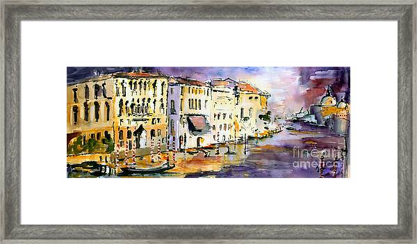 Dreaming Of Venice Canale Grande Framed Print