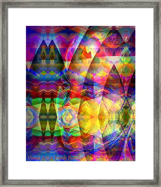 Framed Print featuring the digital art Dreaming by Visual Artist Frank Bonilla
