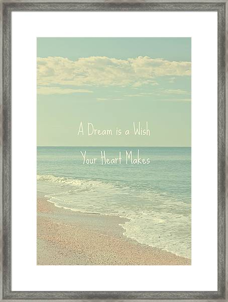 Dreams And Wishes Framed Print