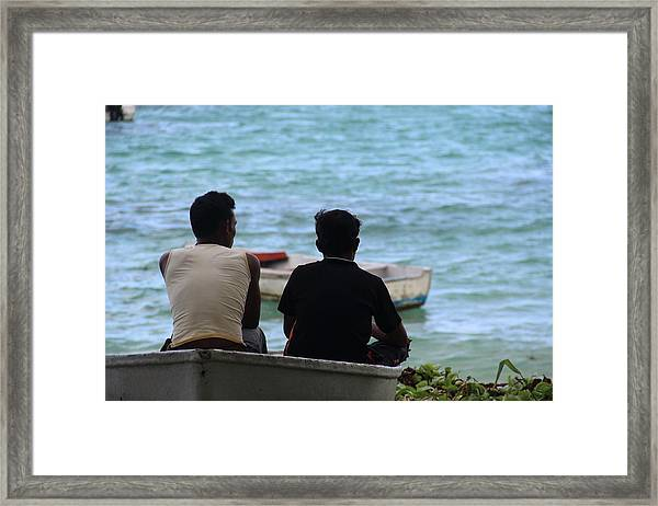 Framed Print featuring the photograph Dreams Of The Sea by Debbie Cundy