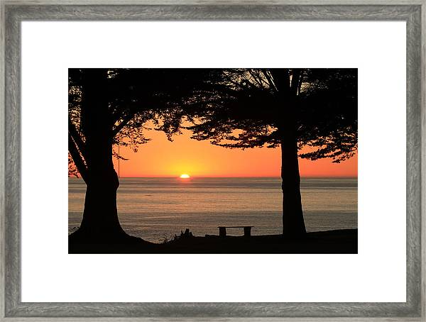 Dreamy Day's End Framed Print