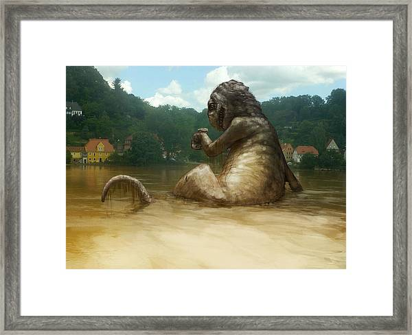 Dregs Of The Flood Framed Print