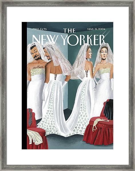 Dress Reversal Framed Print
