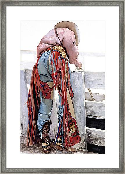 Dressed To Ride Framed Print