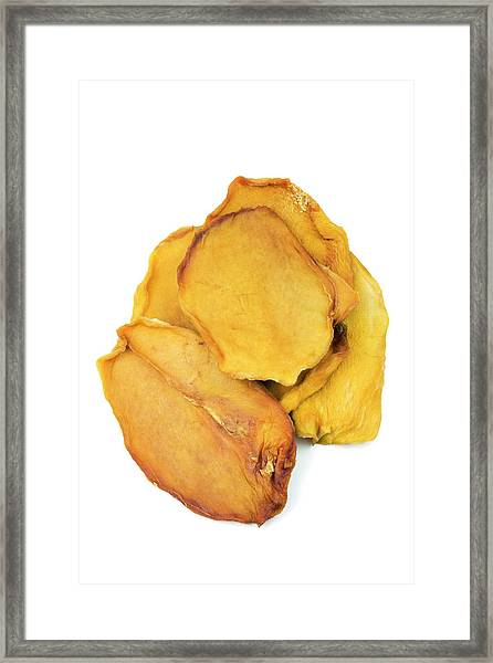 Dried Mango Slices Framed Print