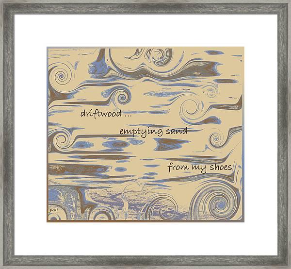 Driftwood Haiga Framed Print