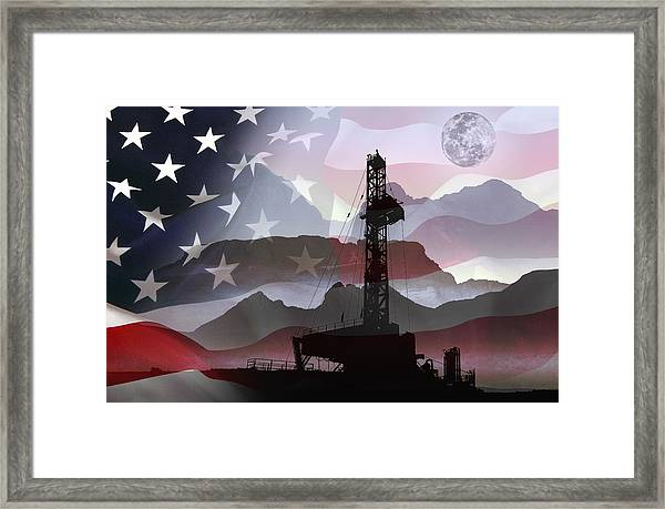 Drilling For America Framed Print