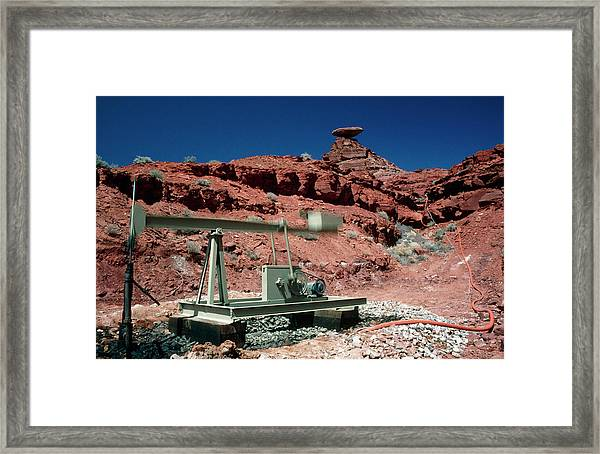Drilling For Oil Near Mexican Hat Framed Print