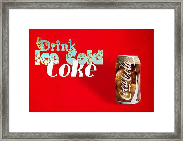 Drink Ice Cold Coke 3 Framed Print