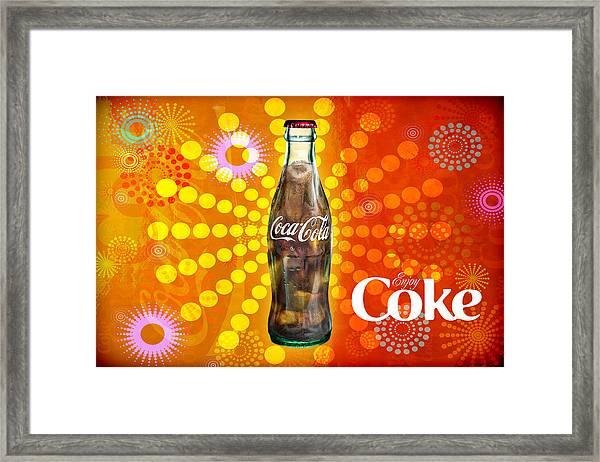 Drink Ice Cold Coke 4 Framed Print