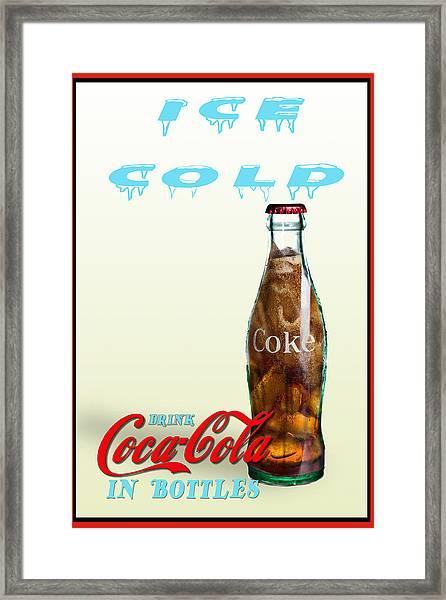 Drink Ice Cold Coke Framed Print