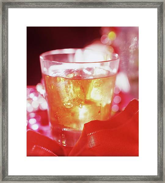Drink In A Glass Framed Print