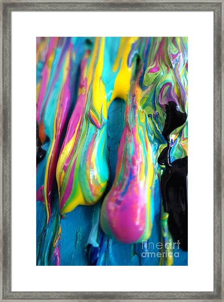Dripping Paint #3 Framed Print