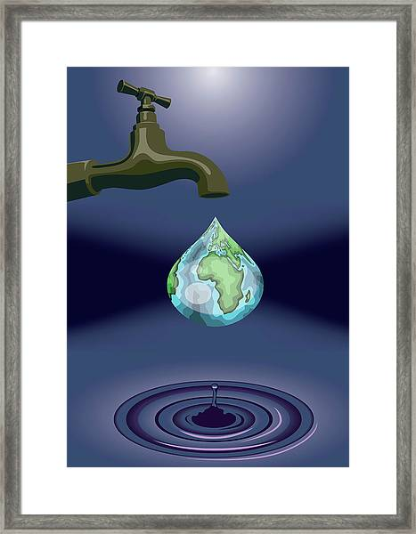 Dripping Tap Framed Print by Fanatic Studio / Science Photo Library