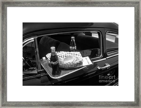 Drive-in Coke And Burgers Framed Print