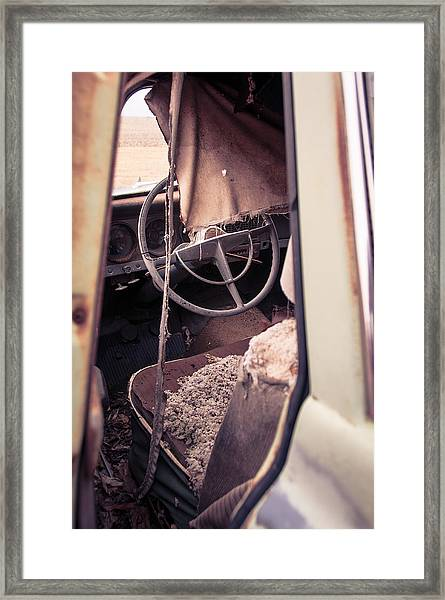 Drivers Seat Framed Print