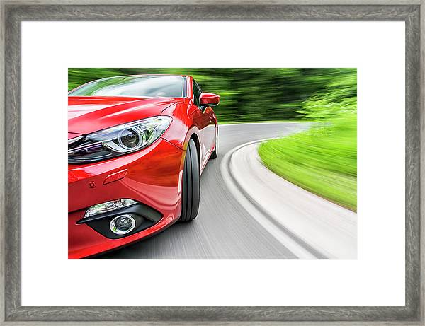 Driving A Car Framed Print