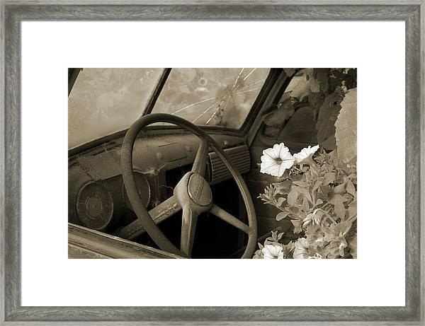 Driving Flowers Framed Print