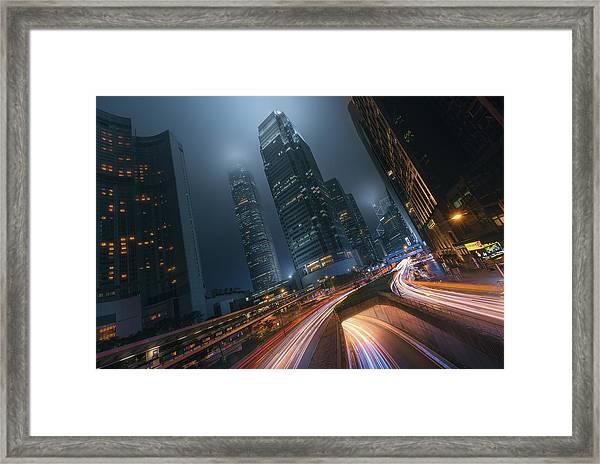 Driving Hong Kong Framed Print