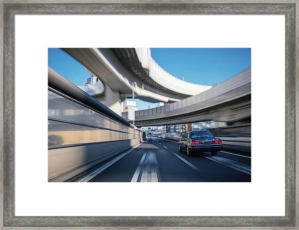 Driving On The Metropolitan Expressway Framed Print
