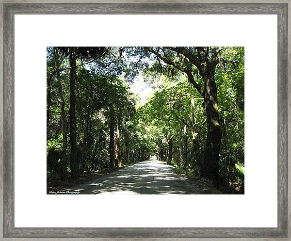 Driving The Loop At Daytona Beach Framed Print