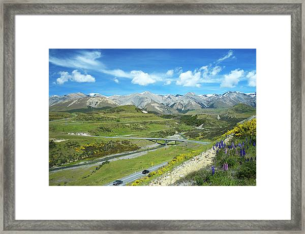 Driving The Southern Alps Framed Print