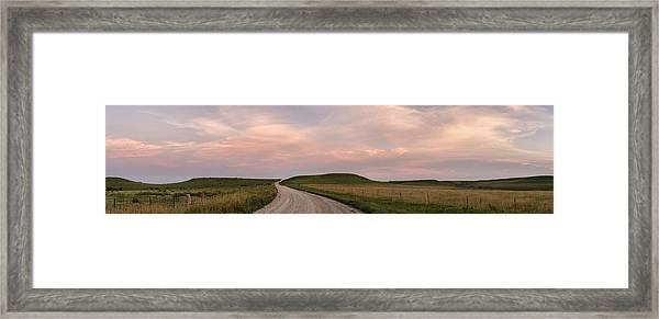 Driving Through The Flint Hills Framed Print
