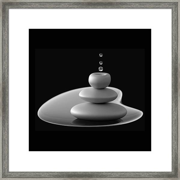 Drops Composition Framed Print by Antonyus Bunjamin (abe)