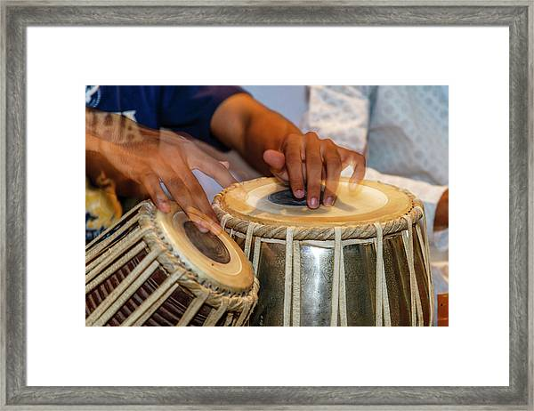 Drum Player's Hands, Varanasi, India Framed Print by Ali Kabas