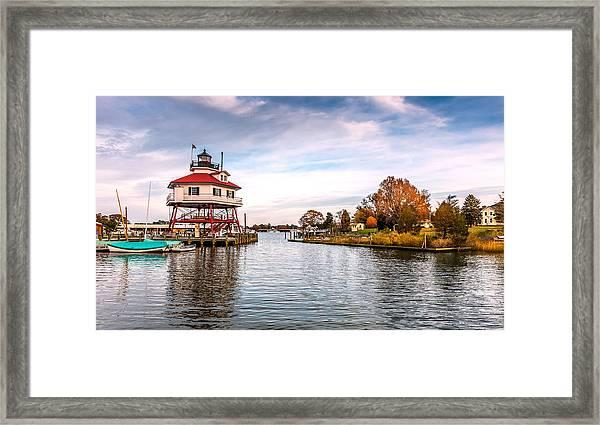 Drum Poiint Lighthouse Framed Print