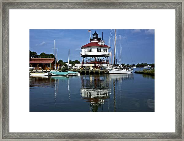 Drum Point Light House Framed Print