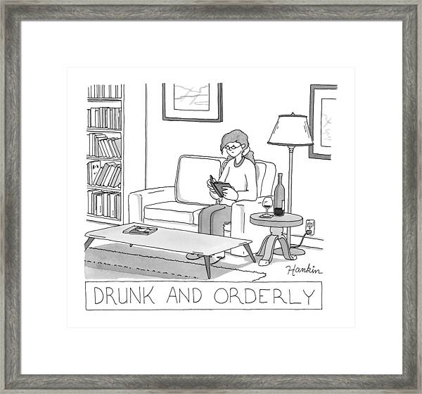 Drunk And Orderly -- A Woman Reads A Book Framed Print