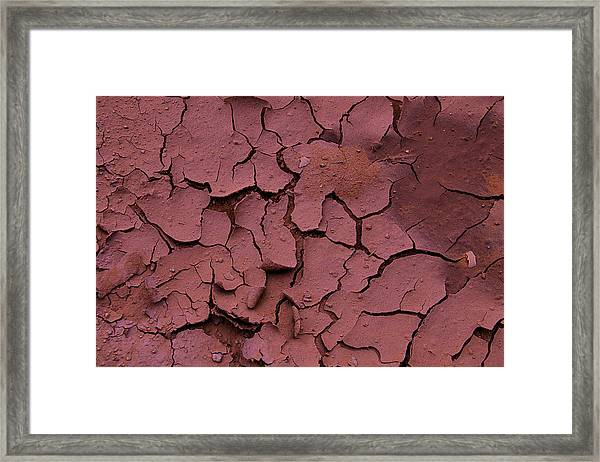 Dry Cracked Earth Framed Print