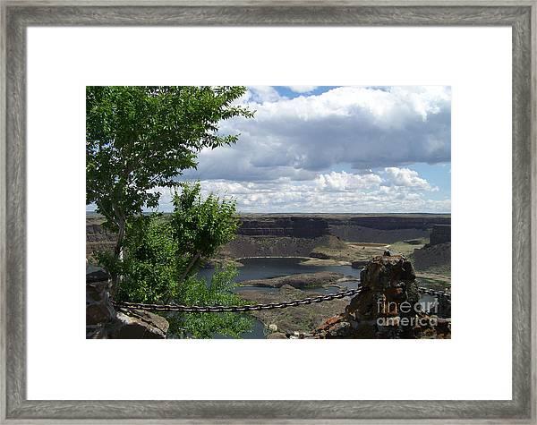 Dry Falls Overlook Framed Print