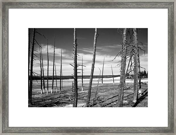 Dry Lake Bed Framed Print