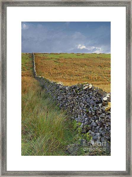 Dry Stone Wall Yorkshire Dales Uk Framed Print