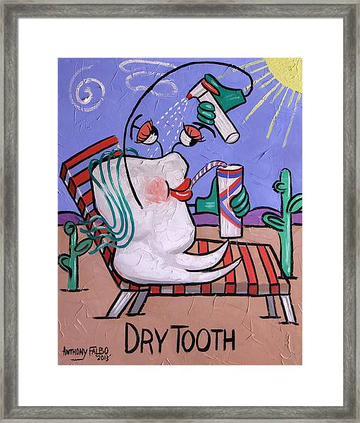Dry Tooth Dental Art By Anthony Falbo Framed Print