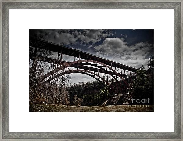 Dual Arched Bridge Framed Print