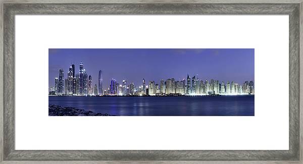 Dubai Panoramic Framed Print