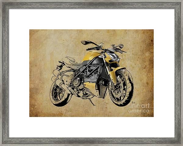 Ducati Streetfighter 848 2012 Framed Print
