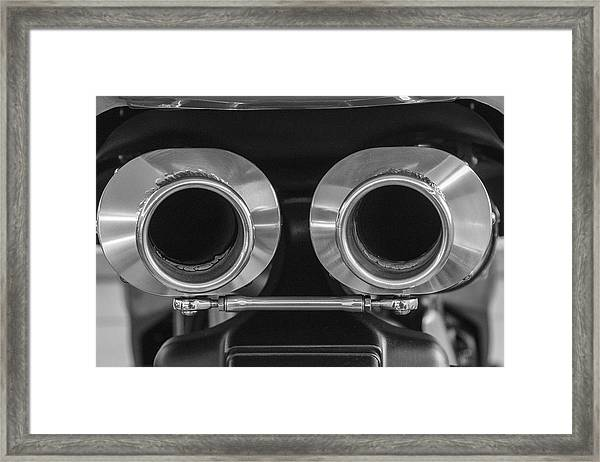 Ducati Twin Exhaust Framed Print