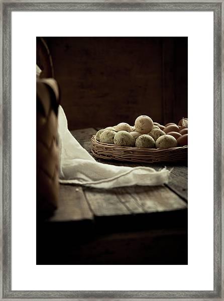 Duck Eggs Framed Print