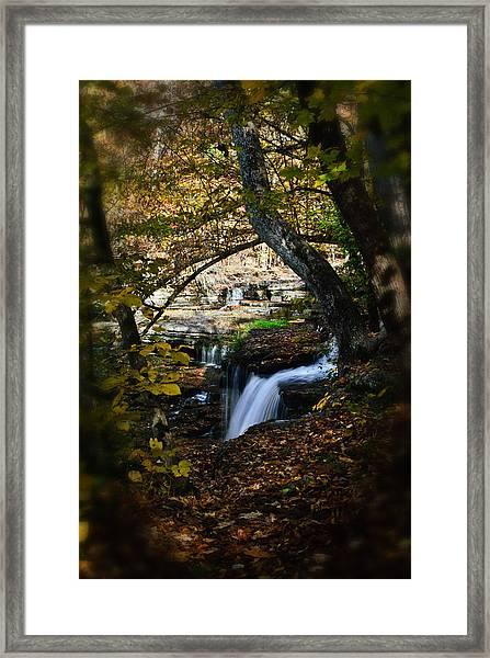 Duck River Falls Framed Print