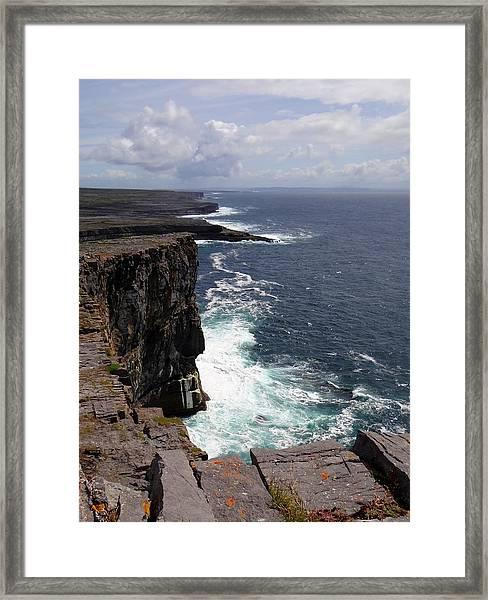 Dun Aengus Cliffs Framed Print