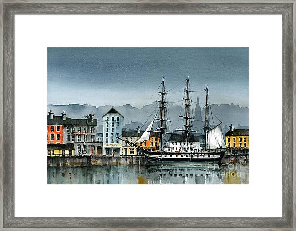 Dunbrody Famine Ship  In New Ross Framed Print