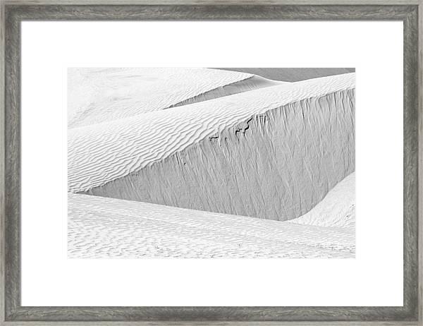Dune Abstract, Paryang, 2011 Framed Print