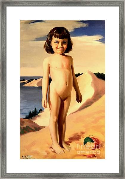Dune Baby Framed Print