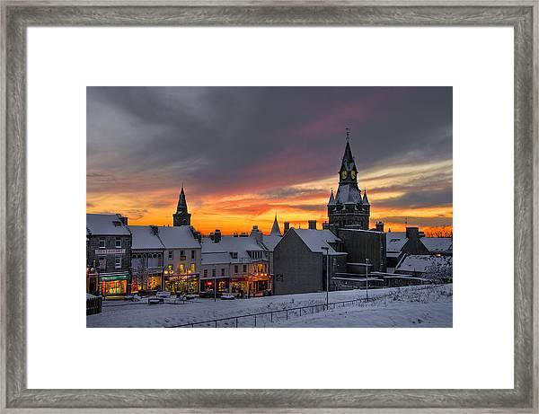 Dunfermline Winter Sunset Framed Print