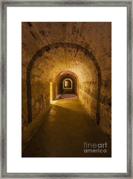 Dungeon At Castillo San Cristobal In Old San Juan Puerto Rico Framed Print