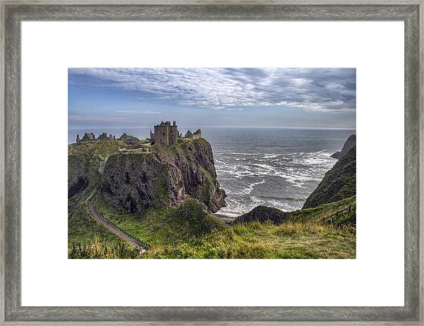 Dunnottar Castle And The Scotland Coast Framed Print